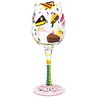 Birthday Cake Wine Glass