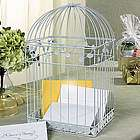 White Birdcage Card Holder