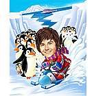 Snowmobiling Caricature Print from Photo