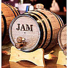 1 Liter Black Hoop Mini Whiskey Barrel