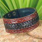 Men's Chiang Rai Trek Leather Wristband Bracelet