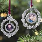 Pewter Wreath Picture Frame Ornament