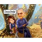 Grandpa's Favorite Caricature from Photos