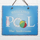 Personalized Welcome to Our Pool Sign