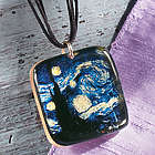 Van Gogh Starry Night Square Necklace
