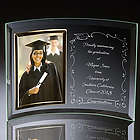 Congratulations Graduate Curved Glass Photo Frame