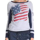 Grey & Navy Americana Long Sleeve Tee