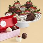 Valentine's Cake Truffles & Fancy Strawberries