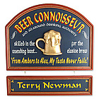 Beer Connoisseur Personalized Sign