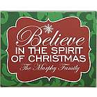 Personalized We Believe in Christmas Canvas Wall Hanging