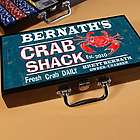Personalized Crab Shack Poker Set
