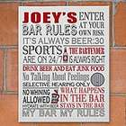Personalized Bar Rules Pub Sign