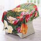 Flowerbed Fleece Throw