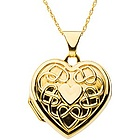 Heart of Gold Engraved 14k Locket