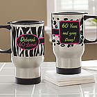 Flirty-Licious Ladies Personalized Birthday Travel Mug