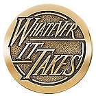 Whatever it Takes Brass Medallion