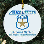 Personalized Police Officer Ceramic Ornament