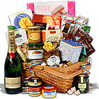 Champagne and Gourmet Snacks Gift Basket
