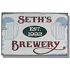 Personalized Vintage Brewery Sign
