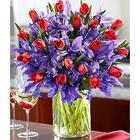 Deluxe Hugs and Kisses Red and Purple Bouquet