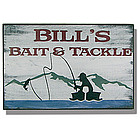 Personalized Vintage Bait & Tackle Sign