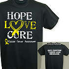 Hope Love Cure Bladder Cancer Personalized T-Shirt