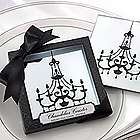 Set of 2 Chandelier Mirrored Coasters
