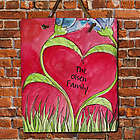 Personalized Romantic Tulips Slate Plaque