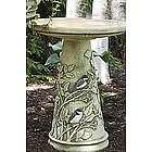 Handcrafted Chickadee Birdbath