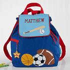 Personalized All Star Sports Embroidered Blue Backpack