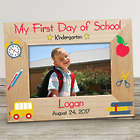 Personalized First Day of School Wooden Picture Frame