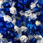 2 Pounds of Hard Flasher Candies in Blue and Silver