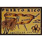 Puerto Rico Map Leather Photo Album in Natural