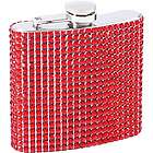 Stainless Steel Red Bling Flask