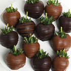 12 Dark & Milk Chocolate Covered Strawberries