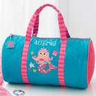 Kid's Personalized Mermaid Duffel Bag