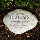 "Engraved 11"" Love Blooms Here Large Garden Stone"