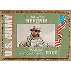 Custom Photo US Army Tapestry Throw Blanket