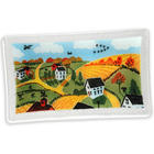 "10"" Farm Country Glass Rectangular Tray"