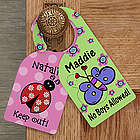 Personalized Door Knob Hanger for Girl's Bedroom