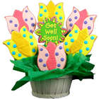 Get Well Wishes Tulip Sugar Cookie Bouquet