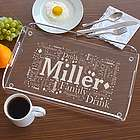 Family Word-Art Serving Tray
