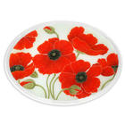 "18"" Red Poppies Oval Platter"