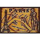 Paris Map Leather Photo Album in Natural