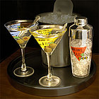 Personalized Martini Glasses and Shaker Set