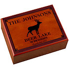 Personalized Cabin Series Stag Design Humidor