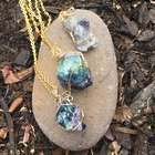 Raw Genuine Fluorite Crystal Positive Energy Necklace