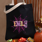 Personalized Spider Web Halloween Treat Bag