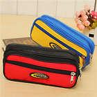 Double-Deck Three Zipper Bag Storage Case