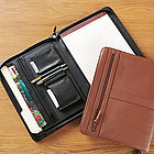 Personalized Leather Executive Zip Around Padfolio